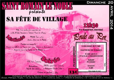 programme fete  village 2014