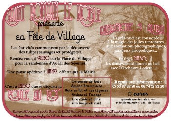 affiche fete du village st romain 2015